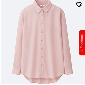 New Pink Rayon Long Sleeve Blouse